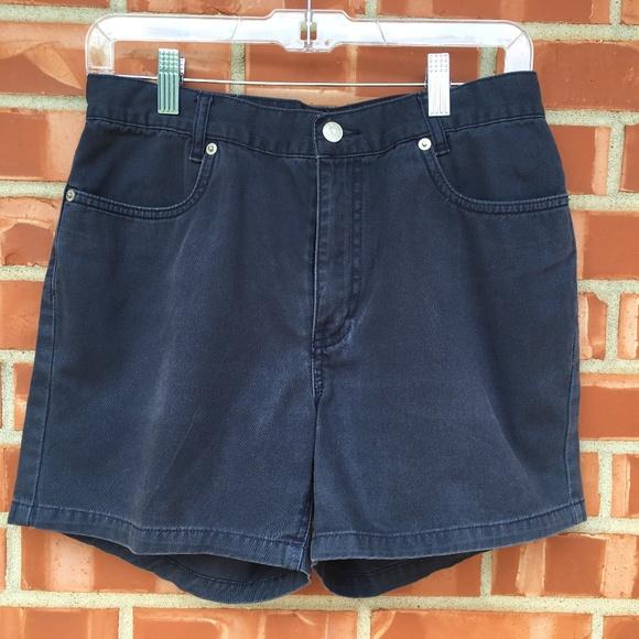 Tommy Hilfiger Pants - Tommy Hilfiger Solid Blue Short Shorts, Size 6
